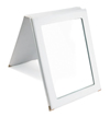 Faux Leather Folding Mirror (White)