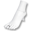 Foot Display White