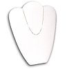 "Necklace Display Stand 11""H White"