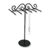 "Metal Necklace Stand 13""H Black"