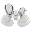 Display Assortmet Necklace Display Busts White