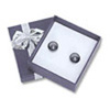 Bow-tie Small Earring Jewelry Box Blue (Dozen)