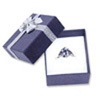 Bow-tie Ring Jewelry Box Blue (Dozen)