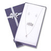 Bow-tie Small Combo Jewelry Box Blue (Dozen)