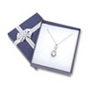 Bow-tie Earrring or Pendant Jewelry Box Blue (Dozen)