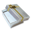 Bow-tie Large Earring Box Silver (Dozen)