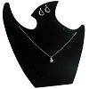 Combination Necklace Stand Black Velvet