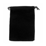 Black Velveteen Anti Tarnish Drawstring Pouch (4x5)