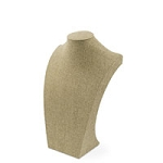 "Burlap Neckform 13"" Tall"