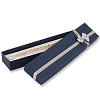 Bow-tie Bracelet Jewelry Box Blue (Dozen)