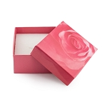 Rose Pattern Ring and Pendant Box