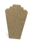 Burlap 2-Necklace Display Stand