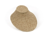 Low Profile Necklace Display Bust Burlap 7-1/4