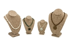 4-Piece Burlap Necklace Bust Kit