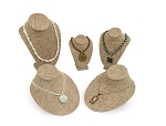 5-Piece Burlap Necklace Bust Kit