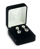Velour Stud Earring Box Black