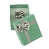 Bow Tie Ring Box Glossy Teal (Dozen)