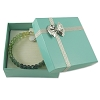 Bow Tie Bangle Box Glossy Teal (Dozen)