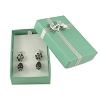 Bow Tie Large Earring Box Glossy Teal (Dozen)
