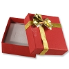 Bow Tie Earring Box - Red (Dozen)