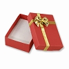 Bow Tie Large Earring Box - Red (Dozen)