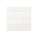 "Hanging Earring Cards White 2""x2"" (Package of 100)"