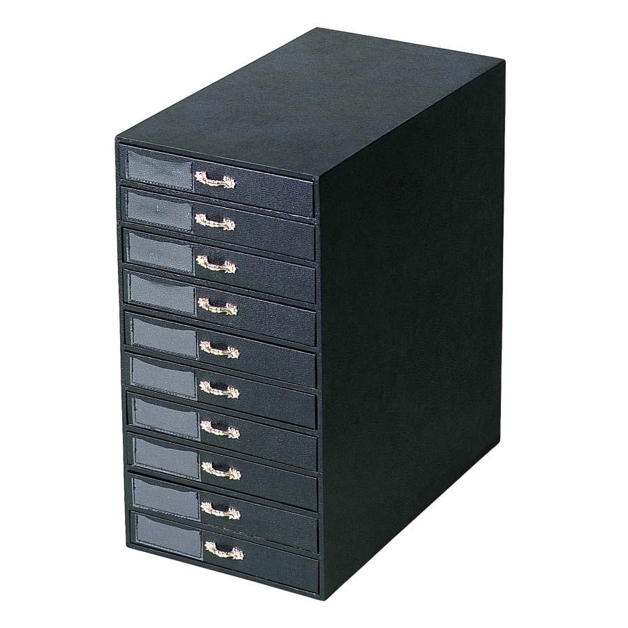 Black 10 Tray Jewelry Storage Tower