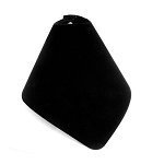 Foldable Necklace Cone Display Black