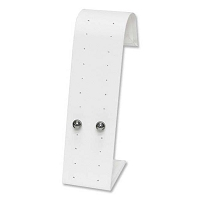 Stud Earring Display Stand White