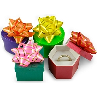 Mini Hat Boxes - Bright Colors (Package of 48)