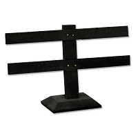 Earring Display Stand T Bar Jewelry Display  2-Tier Black