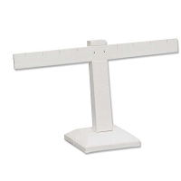Earring Display Stand T Bar Jewelry Display  White