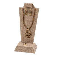 Deluxe Multi-Function Ear/Neck/Ring Burlap Jewelry Display