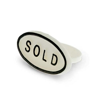 Sold Sign White (Pack of 25)