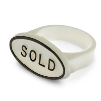 White Sold Signs for Ring Fingers (Pack of 50)