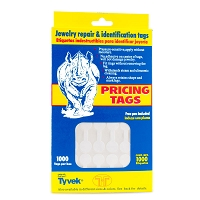 Jewelry Price Tags - Round White (Pack of 1000)