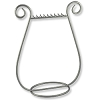 Harp Necklace Display Matte Silver