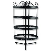 Metal Earring Display Rack Revolving Tower