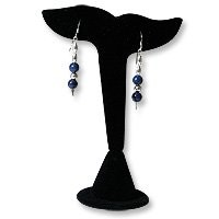 Earring Display Stand Whale Tail Black