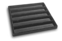 Flocked Jewelry Tray Insert 1/2 (1x5) Black