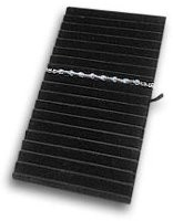 Black Velvet Ribbed Bracelet Display Pad Insert
