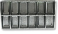 Plastic Jewelry Tray Liner 2x6 Black