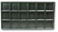 Plastic Jewelry Tray Liner 3x6 Black