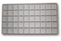 Flocked Jewelry Tray Insert (5x10) Grey