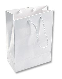 Tote Bag Small Glossy White (Each)