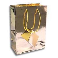 Tote Bag Small Metallic Gold (Each)