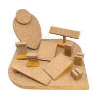 12-Piece Premier Cork & Wood Jewelry Display Set