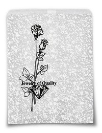 Paper Jewelry Bags 8.5 x 11 Silver (100pcs)
