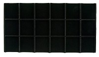 Black Velvet Sectioned Jewelry Tray Insert 3 x 6