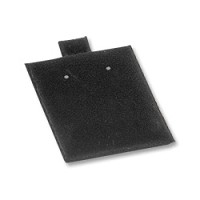 Puff Earring Card Plain Black 1.5